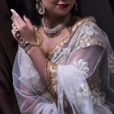 sari aus chiffon