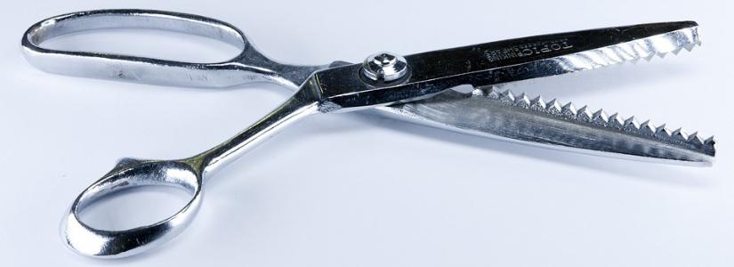 zickzack schere für stoff