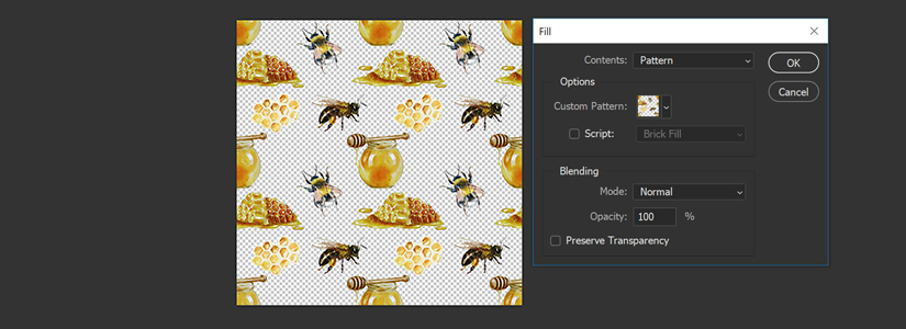 Photoshop Muster erstellen für Contrado