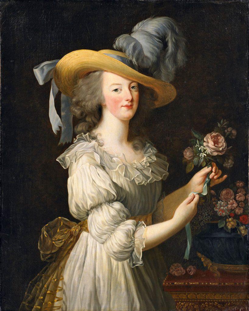 Marie Antoinette im Musselinkleid