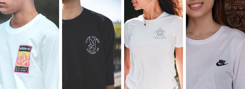 T Shirt Logo auf Stoff drucken lassen