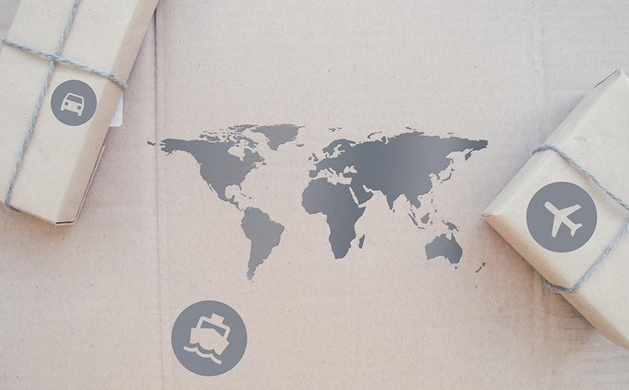 Versand in die ganze Welt