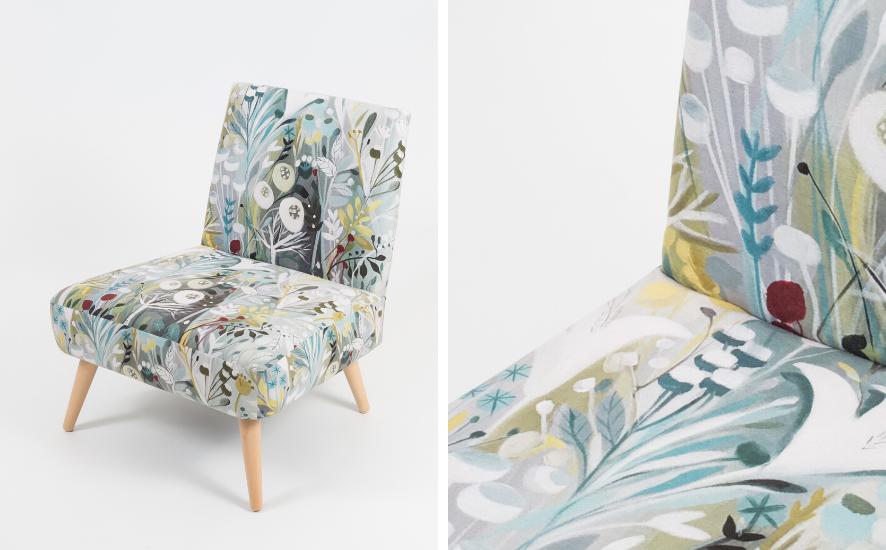 Bezugsstoff für Sessel und Stühle