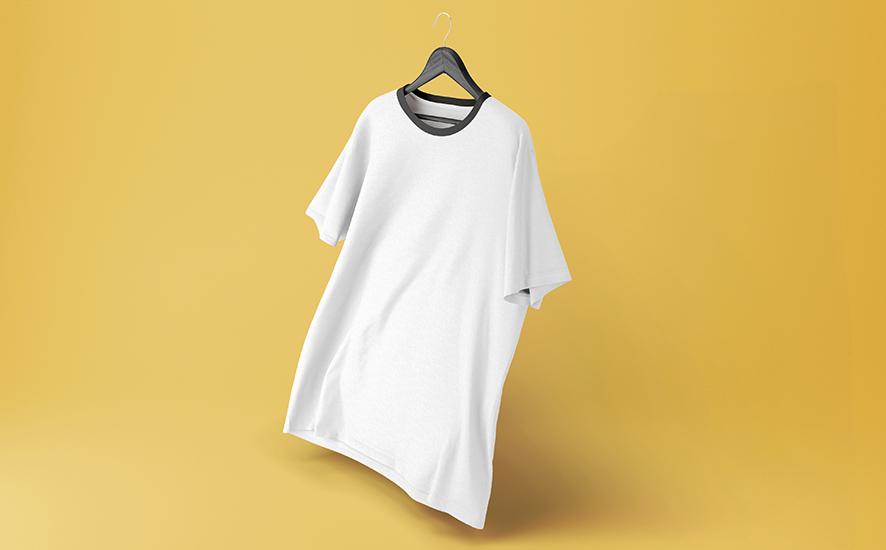 Sublimationsdruck T Shirt Weiß